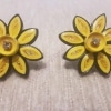 Quilled Yellow Earring