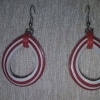 Quilled Ethnic Red Earring