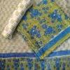 Dragonfly Block Printed Cotton Mul Saree