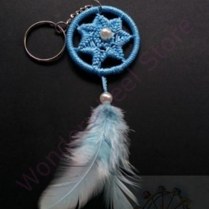 Blue Dream Catcher Keychain