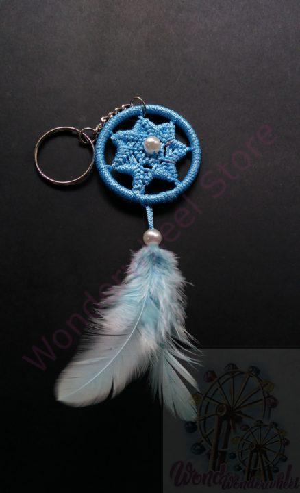 Blue Dream Catcher Keychain