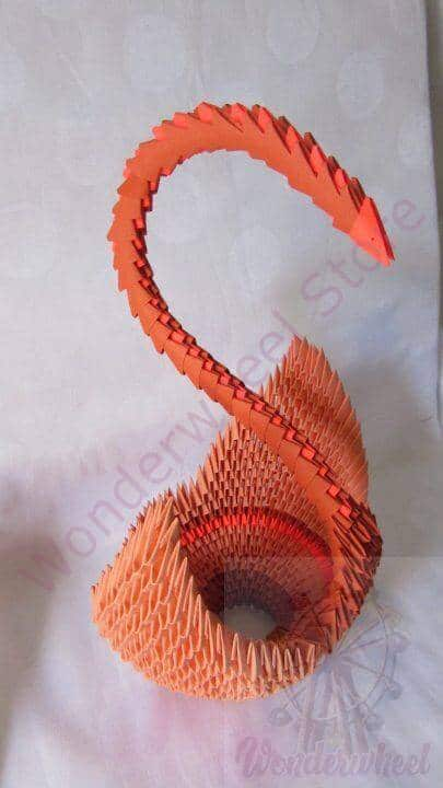 How to make 3d origami Swan 7 part1 - YouTube | 720x405
