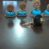 Handmade Silk Thread Jhumka and Bangle