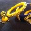 Handmade Orange Silk Thread Earring