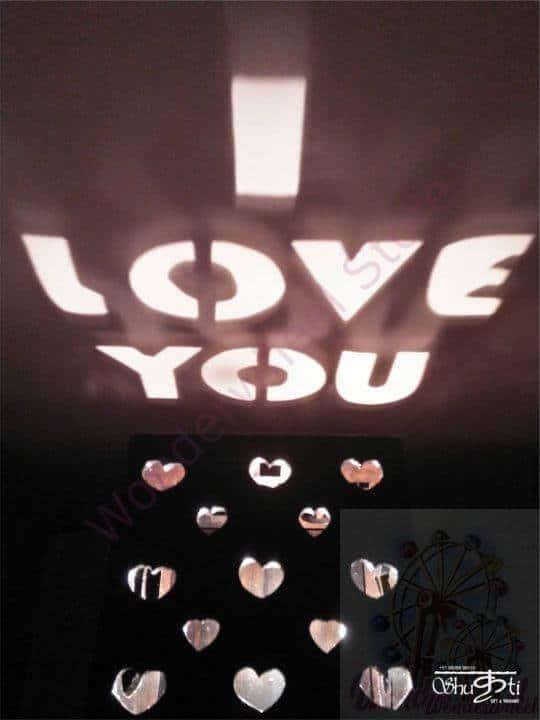 Shadow Lamp I Love U