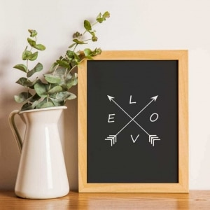 handmade modern art print frame