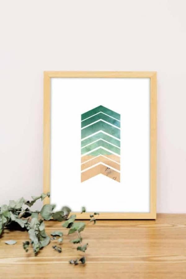 Shape Art with Handmade wooden frame