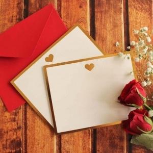 Heart Monogram Flat Card + Envelopes – Set 0f 5 2