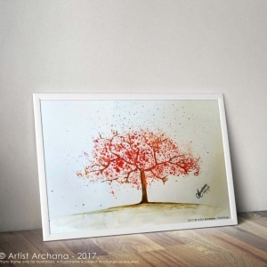 Aap002 Cherry Blossom Tree Painting