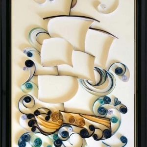 Ship Quilling Art
