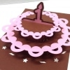 Happy Birthday Wishes Fairy Doll Cake Pink Daughter Princess Niece Greeting Card