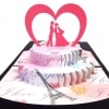 Violet Bloom Couple on Cake Invitation Love Anniversary Proposal Love Greeting Card Best Gift Husband Wife