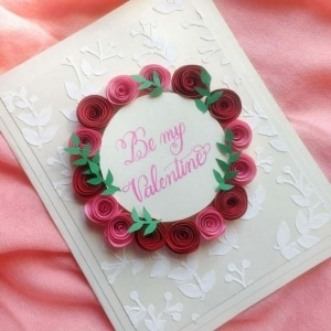 Rose Wreath Valentine's Day Card