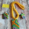Handcrafted Exclusive Piece In Fabric Jewelry