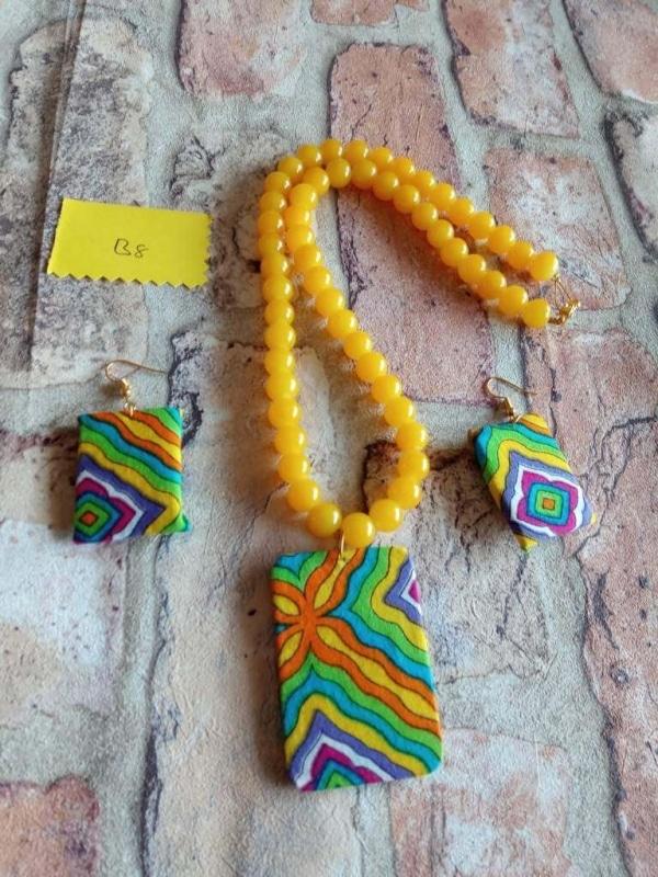 Yellow Beads Fabric