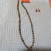 Long Necklace with Orange and Green