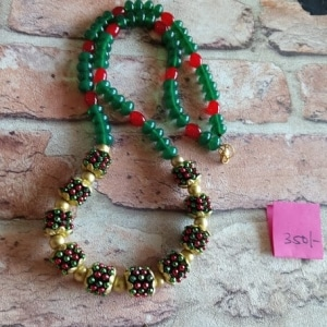 Green And Red Amarpalli Lockets