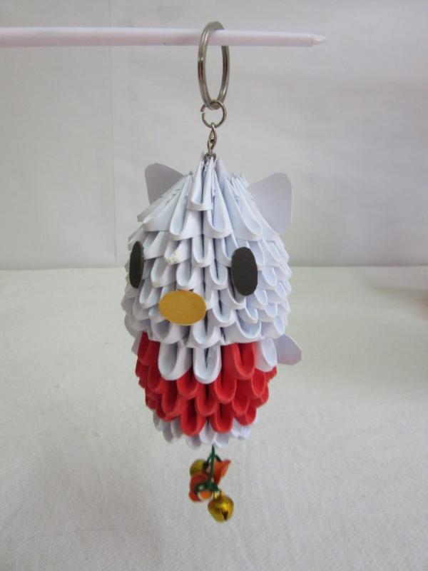 Origami Kitty Keychain