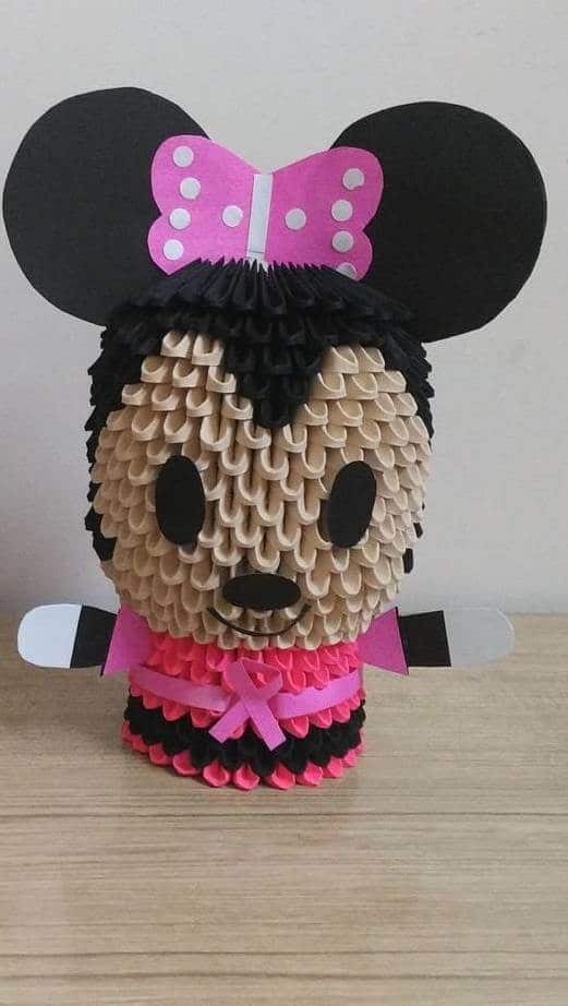 3d Origami Minnie Mouse