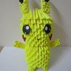 Mini 3d Origami Pikachu