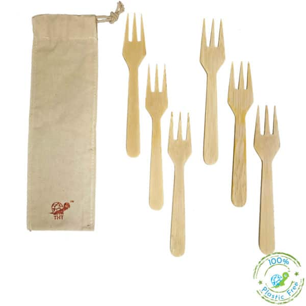 Bamboo Forks With Logo