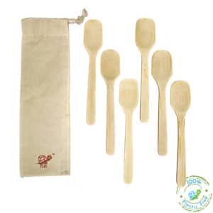 Bamboo Spoons With Logo