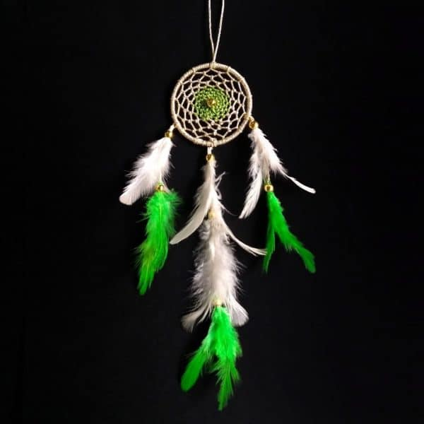 Gold Green Web Dreamcatcher