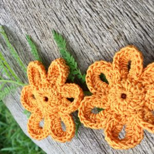 Crocheted studs