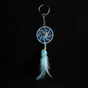 Light Blue Spiral Keychain