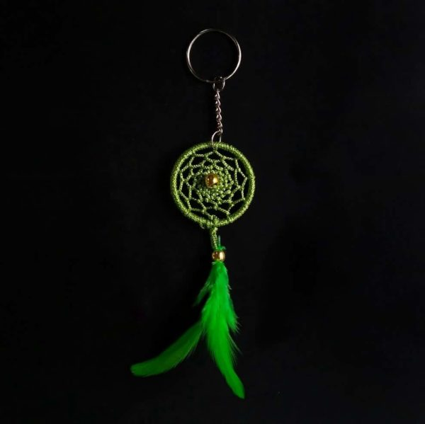 Light Green Web Keychain