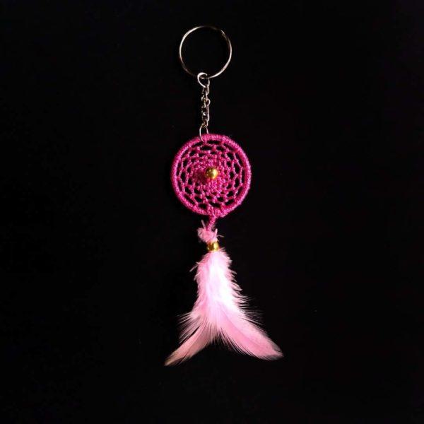 Light Pink Web Keychain