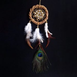 Paper Wreath Peacock Feathered Dreamcatcher