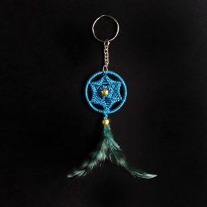 Poseidon Blue(peacock Blue) Sun Spial Keychain