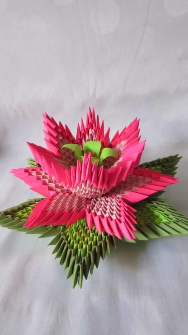 3d Origami Lotus