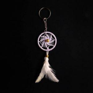 White Spiral Keychain