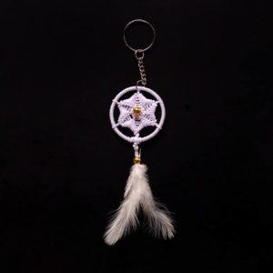 White Sun Spiral Keychain