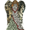 Mosaic Winged Angel in Silver
