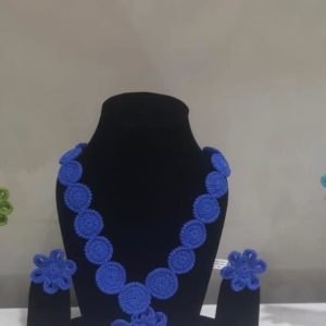 Bluebell Hand Crocheted Statement Neckpiece