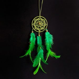 Light Green Sun Spiral Dreamcatcher