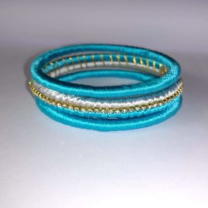 Blue Silk Thread Bangles