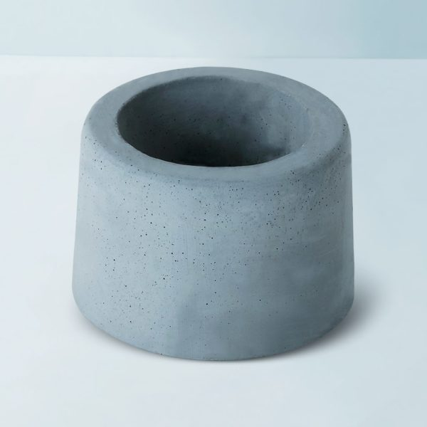 Wonderwheelstore | 31 | Concrete Round Small Glass Planter Gmpl002 2