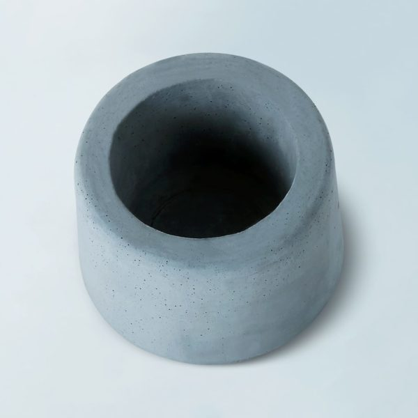 Wonderwheelstore | 31 | Concrete Round Small Glass Planter Gmpl002 3