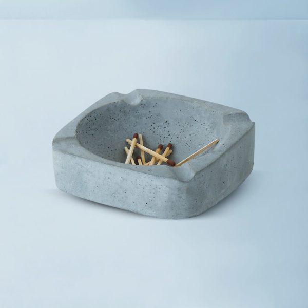 Wonderwheelstore | 03 | Asbak Concrete Handmade Grey Ashtray Gmac008 1