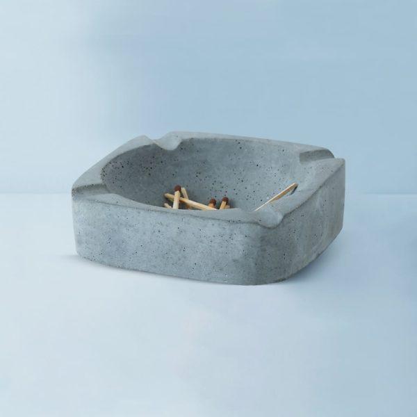 Wonderwheelstore | 03 | Asbak Concrete Handmade Grey Ashtray Gmac008 2