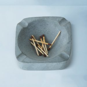 Wonderwheelstore | 03 | Asbak Concrete Handmade Grey Ashtray Gmac008 3