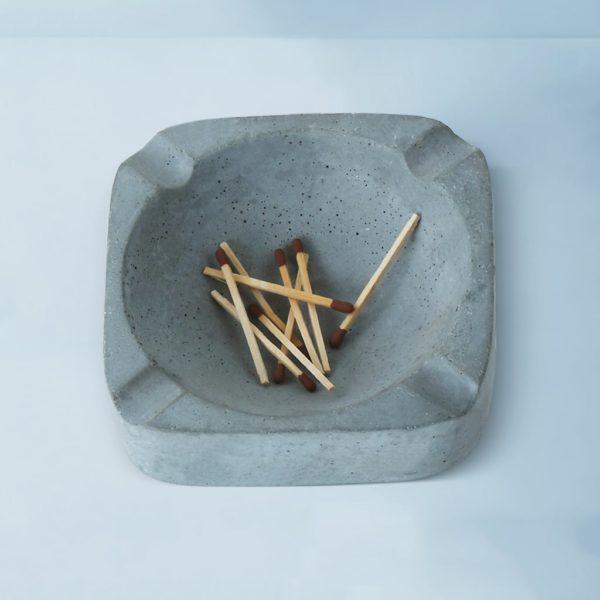 Wonderwheelstore | 03 | Asbak Concrete Handmade Grey Ashtray Gmac008 3
