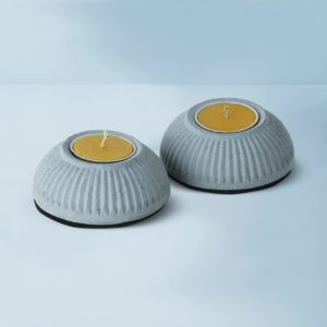 Wonderwheelstore | 03 | Set Of 2 Indilight Concrete Candle Holders Gmac011 1