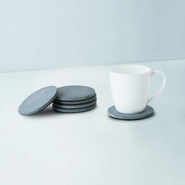 Wonderwheelstore | 03 | Set Of 6 Cion Grey & Beige Concrete Coasters Gmac014 1