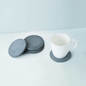 Wonderwheelstore | 03 | Set Of 6 Cion Grey & Beige Concrete Coasters Gmac014 2
