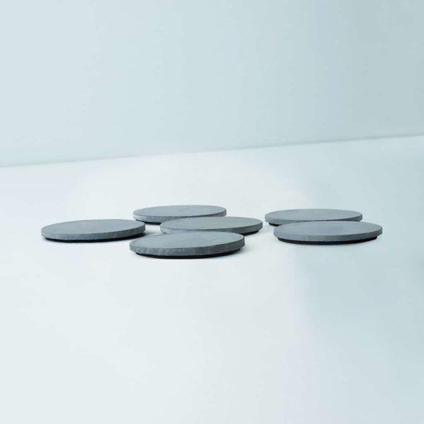 Wonderwheelstore | 03 | Set Of 6 Cion Grey & Beige Concrete Coasters Gmac014 4